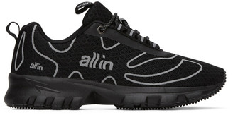 all in Black and Silver Tennis Sneakers
