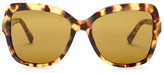 Dolce & Gabbana Women's Logo Plaque Oversized Acetate Frame Sunglasses