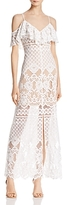 WAYF Luxia Cold-Shoulder Lace Dress