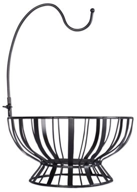 Dii Home Traditions Farmhouse Style Metal Wire Fruit Basket with Banana or Grape Removable Hanging Hook