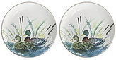 Southern Living Harvest Duck Plates, Set of 2