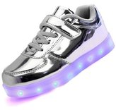 Topteck Kid Boy Girl USB Charging LED Light Up Sport Running Shoes Lumious Flashing Sneakers