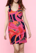 Trina by Trina Turk Abstract Sleeveless Dress