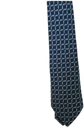 Hermes Navy Silk Ties