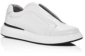Karl Lagerfeld Paris Men's Leather Slip-On Low-Top Sneakers