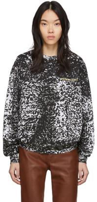 Eckhaus Latta Black and White Astrakhan Sweatshirt