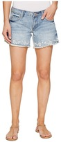 Stetson Denim Shorts with Floral Embroidery On Hem Women's Shorts
