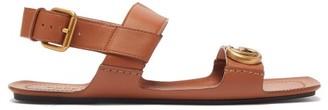 Gucci Sonique Gg Leather Sandals - Tan