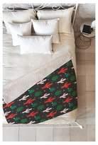 """Deny Designs Green Geometric Zoe Wodarz Cactus Christmas Sherpa Throw Blanket (50""""X60"""
