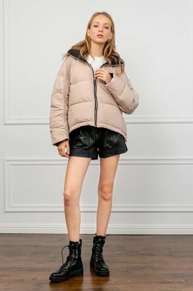 J.ING Climes Beige Puffer Jacket