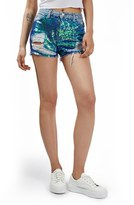 Topshop 'Ashley' Sequin Cutoff Denim Shorts