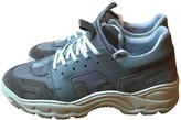 Ami Grey Leather Trainers