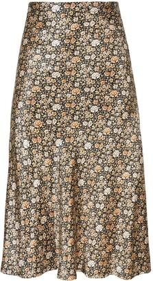 Nili Lotan Floral-Print Midi Skirt