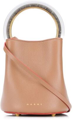 Marni Panier contrasting handle bucket bag