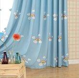 Pureaqu Child Room Window Curtain Cute W52 H84 Inch Lovely Rainbow Drape for Girls Boys Kids Room 1Panel