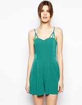 Asos Playsuit With Multi Strap Detail