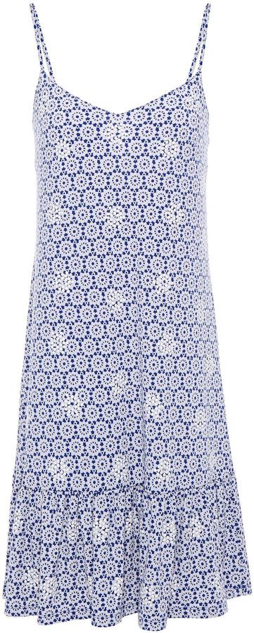 MICHAEL Michael Kors Embellished Printed Stretch-jersey Mini Dress