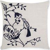 Aura Birds of Paradise Crochet 20-Inch Square Throw Pillow