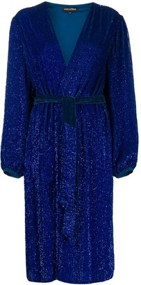 retrofete Glitter Wrap Dress