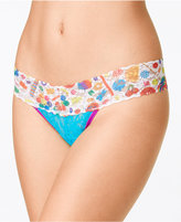 Hanky Panky Dylan's Candy Bar Candyspill-Print Low-Rise Lace Thong 5D1052