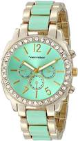Vernier Women's VNR11173GR Analog Display Japanese Quartz Two Tone Watch