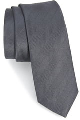 The Tie Bar Herringbone Vow Silk Tie