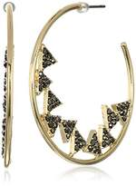 Jessica Simpson Pave Triangles In A Gold Hoop Earrings
