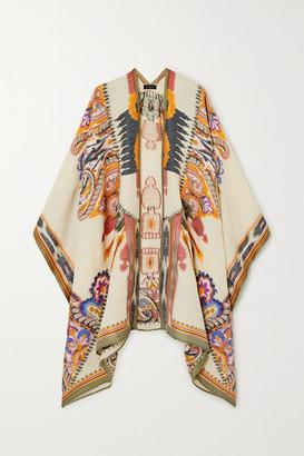 Etro Wool-blend Jacquard Wrap - White