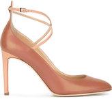 Giuseppe Zanotti Design cross strap pumps - women - Calf Leather/Leather - 35