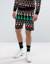 Asos All Over Christmas Design Knitted Shorts