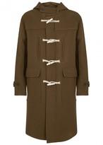 Our Legacy Brown Wool Blend Duffle Coat