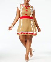 It's Our Time Trendy Plus Size Gingerbread Girl Dress