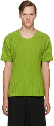 Issey Miyake Homme Plisse Green MC June T-Shirt