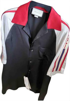 Gucci Black Silk Polo shirts