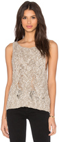 Enza Costa Cable knit Boatneck Shell Tank