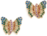 Noir Butterfly Stud Earrings