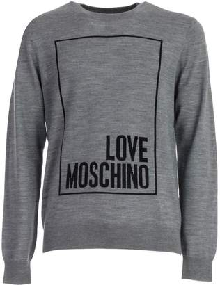 Love Moschino Sweater L/s Crew Neck W/logo