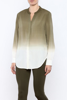 Tribal Olive Ombre Blouse
