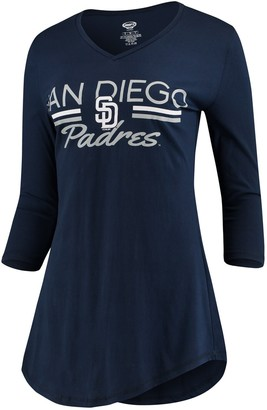 Unbranded Women's Concepts Sport Navy San Diego Padres Duo V-Neck Nightshirt