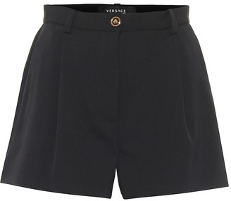 Versace High-rise stretch-wool shorts