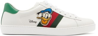 Gucci X Disney Ace Donald Duck Leather Trainers - White