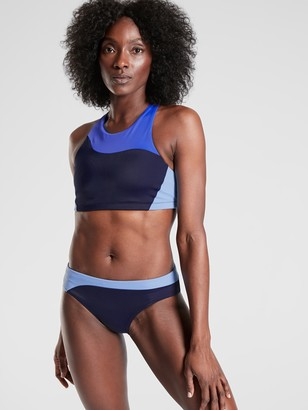 Athleta Freestyle Colorblock High Neck Bikini Top