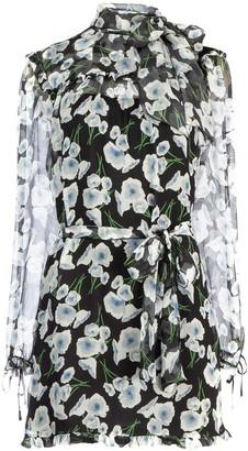 Miu Miu Chiffon Belted Dress