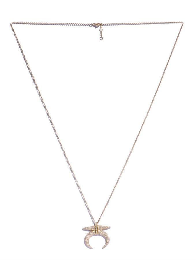 Elise Dray White diamond tribal pendant necklace