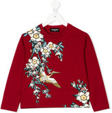 DSQUARED2 floral print top