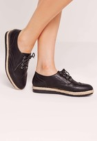 Missguided Espadrille Brogues Black