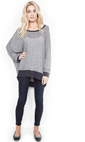 Michael Lauren Fred Sweater Cape in Navy Steel