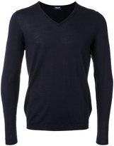 Drumohr v-neck jumper - men - Silk/Cashmere - 46