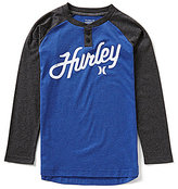 Hurley Big Boys 8-20 Raglan-Sleeve Thermal Henley Tee