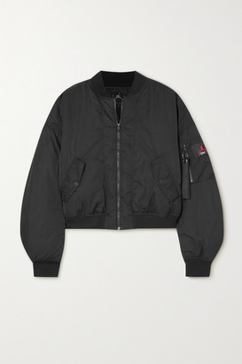 Nike Jordan Cropped Padded Shell Bomber Jacket - Black